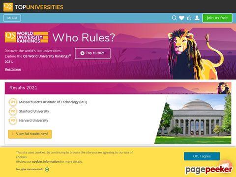 QS World University Rankings - Ranglisten der besten Universitäten und Hochschulen der Welt!