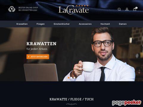 LaCravate - Krawatte kaufen - Krawatten Shop - Fliegen, Schals, Accessoires, online shopping