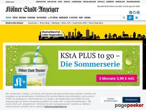 Kölner Stadt-Anzeiger - Schlagzeilen - Nachrichten