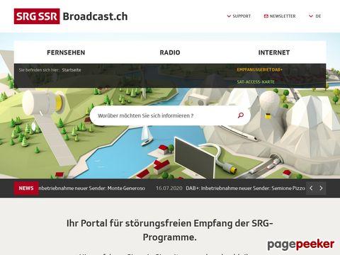 broadcast.ch - Schweizerische Radio- und Fernsehgesellschaft SRG SSR idée suisse
