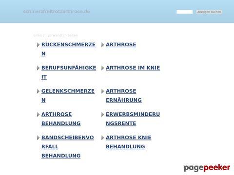 Arthrose? Schmerzfrei trotz Arthrose Portal + Forum