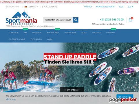 Sportmania.ch - Online Skishop, Snowboard Shop, Scooter, Longboard, Sup in der Schweiz