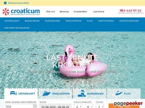 Croaticum Ihr Kroatienspezialist | Hotels, Ferienwohnungen, Billigflüge, Gruppenreisen