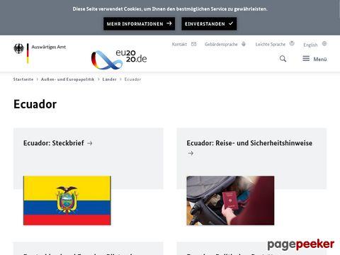 Auswärtiges Amt - Ecuador
