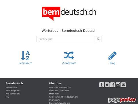 berndeutsch.ch - Berndeutsch - Deutsch Dictionary