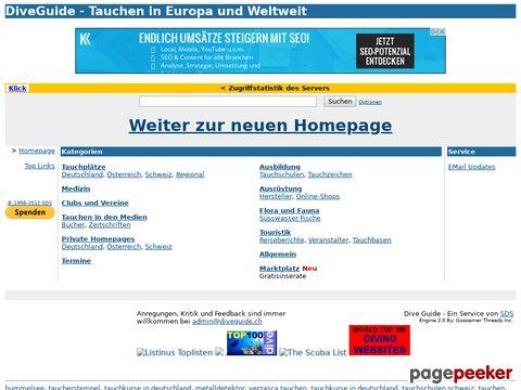 DiveGuide.ch - Tauchen in Europa und Weltweit