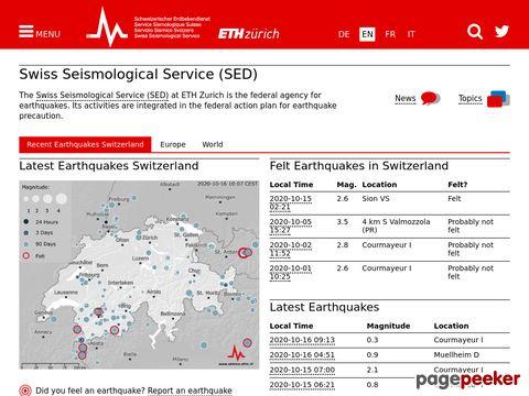 Schweizerischer Erdbebendienst (SED) (by ETH Zürich)