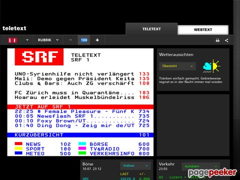 teletext.ch - swisstxt - Teletext-Online vom SF