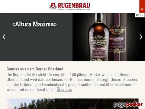 Rugenbräu AG - Distillery - Rarität aus dem Berner Oberland