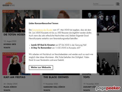 goodnews.ch - Konzert- und Eventveranstalter CH