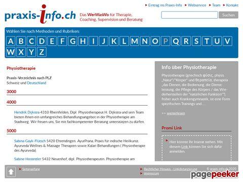 Physiotherapie im praxis-info.ch