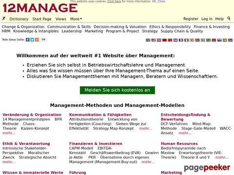 12manage - Kostenlose Lerngemeinschaften - Managementmethoden, Modelle und mehr…