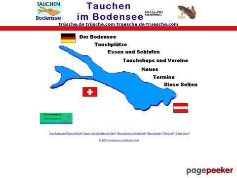 Infos über das Tauchen im Bodensee
