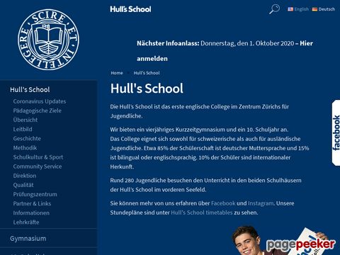 Hulls School in Zurich