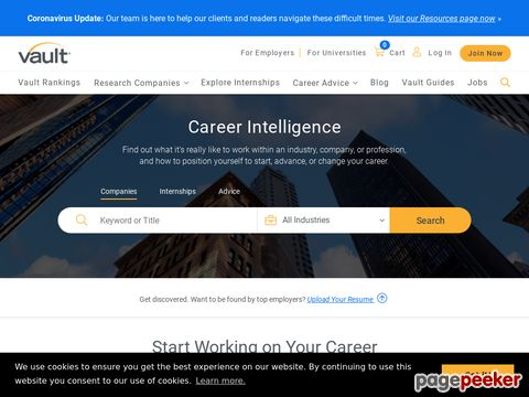 vault.com - Jobs, careers, employment, education