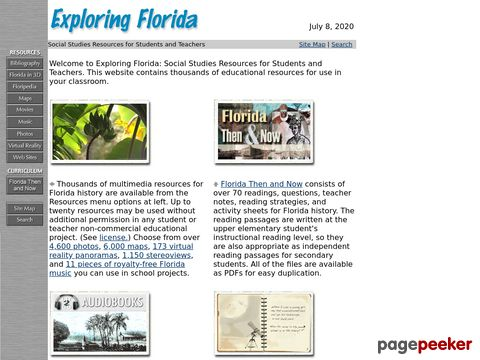 Exploring Florida: A Social Studies Resource for Students and Teachers