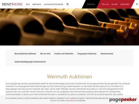 Franz Wermuth - Les Grands Vins Wermuth S.A. - Weinauktionen
