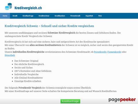 Kreditvergleich Schweiz, ab 4.5% - Mit dem Original zum Online Kredit