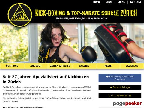 Kickboxing & Top-Karate Schule Zürich