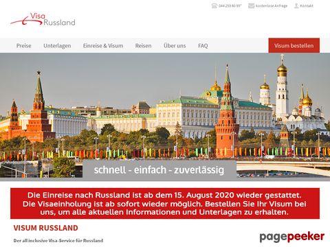 visarussland.ch - Russland Visum Visa Einladung Einladungsschreiben