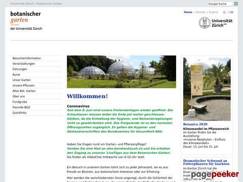 Botanischen Garten Zürich