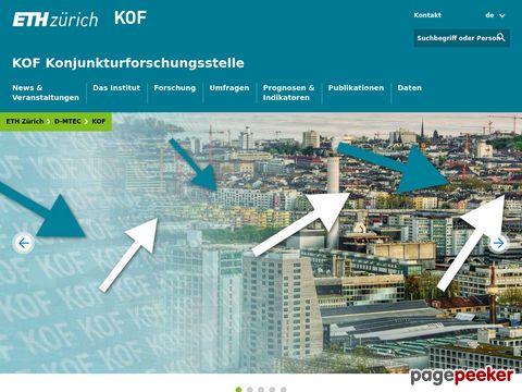 Konjunkturforschungsstelle der Eidgenössischen Technischen Hochschule Zürich (KOF, ETH ZH)