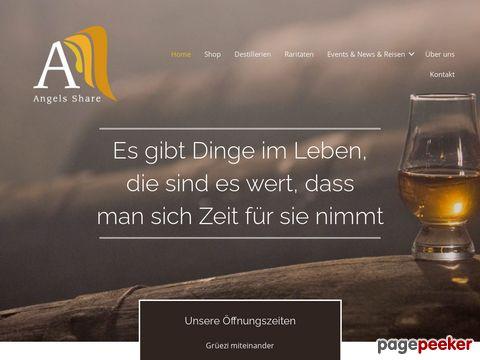 angelsshare.ch - Der Whiskyshop mit der grössten Auswahl an Whiskys und Raritäten in der Region