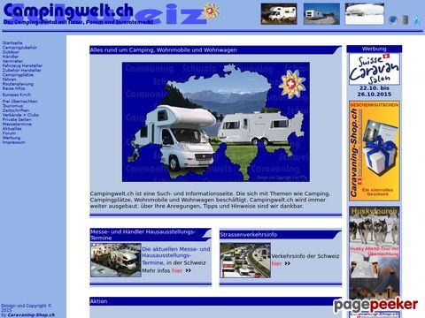Campingwelt.ch, Das Camping Internet-Portal