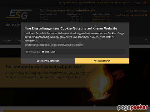 ESG Edelmetallankauf / Gold-Ankauf / Edelmetallrecycling