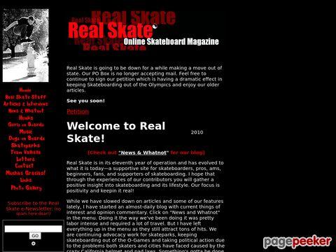 Real Skate Online Skateboard Magazine