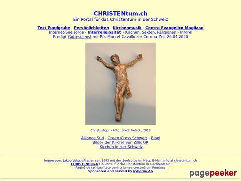 CHRISTentum.ch - CH - Christentum - Portal