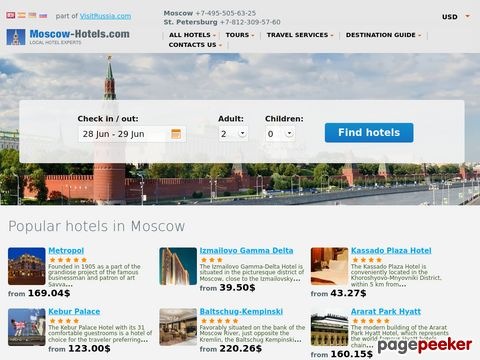 moscow-hotels.com - Moscow Hotels. Discount Hotel Accommodation in Moscow