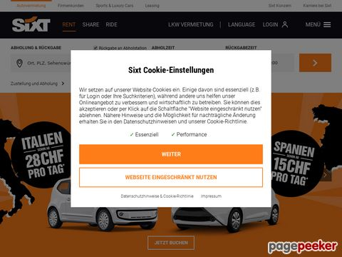 sixt.ch - Sixt Autovermietung