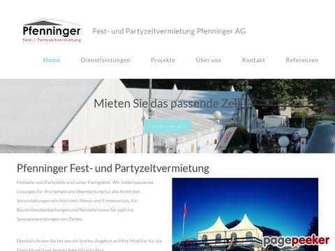 pfenninger-partyzelte.ch - Pfenninger Fest + Partyzelt-Vermietung