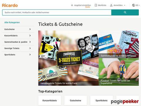 ricardo.ch - tickets finden/verkaufen...