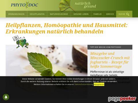 PhytoDoc.de - Therapieformen - Wissenswerte zu vielen, alternativen Therapien