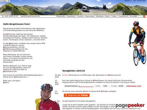 bergstrassen.de - Berichte von Touren & Alpentouren, Passliste
