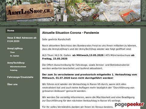 ArmyLiqShop.ch - Schweizer Armeematerial (Liquidationsstelle)