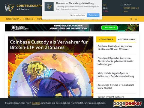 Cointelegraph Bitcoin & Ethereum Blockchain Nachrichten