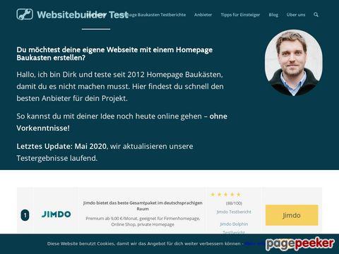 websitebuilder-test.com - Homepage Baukästen im Test / Eigene Homepage erstellen