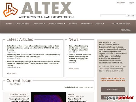 ALTEX - Alternativen zu Tierexperimenten