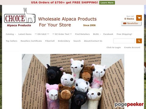 Choice Alpaca Products - Wholesale Alpaca Products for Your Store