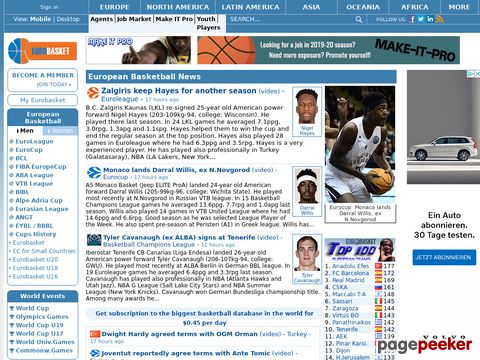 EUROBASKET - European Basketball Main Page