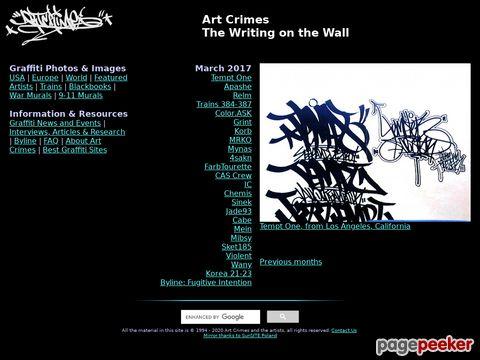 graffiti.org - Art Crimes - The Writing on the Wall