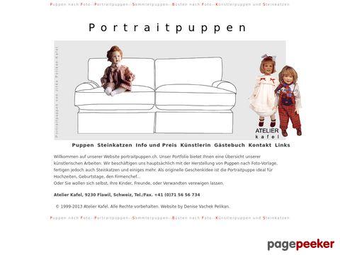 Puppen, Portraitpuppen und Büsten nach Fotovorlage, Steinkatzen