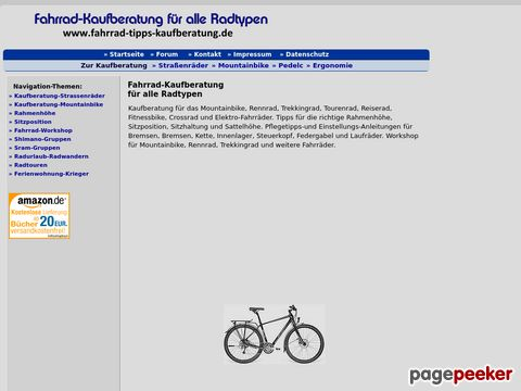 Fahrrad-Kaufberatung für alle Radtypen.