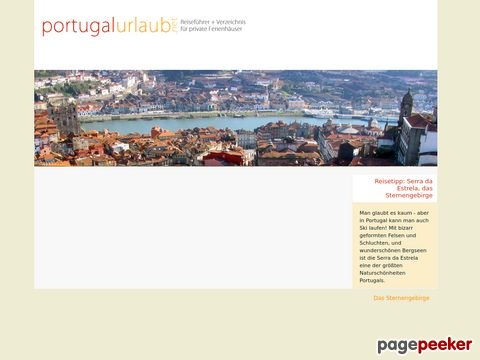 portugalurlaub.net - Private Ferienhäuser in Portugal