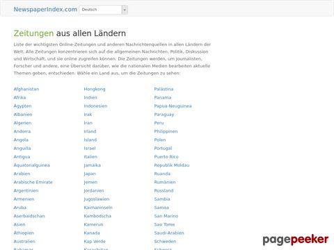 newspaperindex.com - Online Zeitungen aus allen Ländern