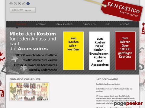 Fantastico Kostümverleih - in Siebnen im Kanton Zürich