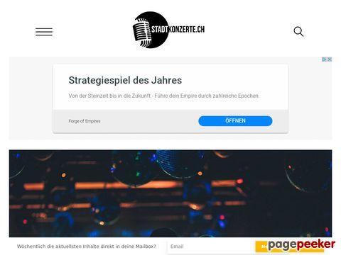 Stadtkonzerte.ch - alle Konzerte in deiner Stadt